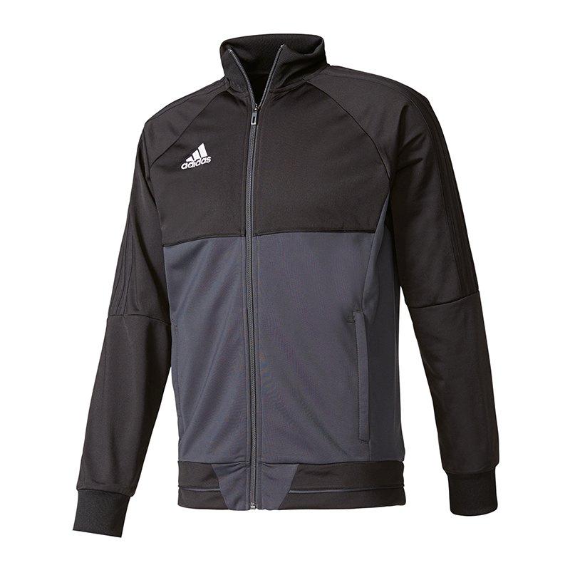 adidas Tiro 17 Trainingsjacke Schwarz Grau - schwarz