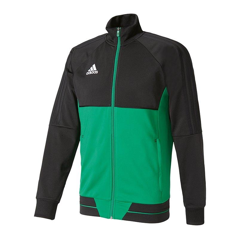 adidas Tiro 17 Trainingsjacke Schwarz Grün - schwarz