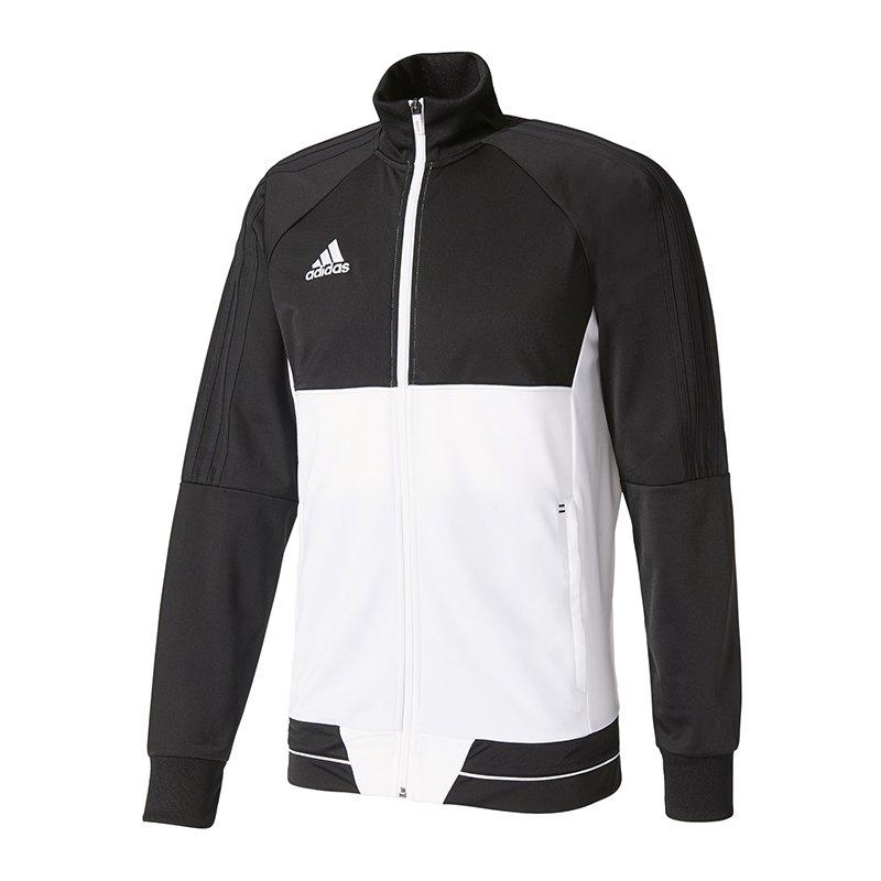 adidas Tiro 17 Trainingsjacke Schwarz Weiss - schwarz