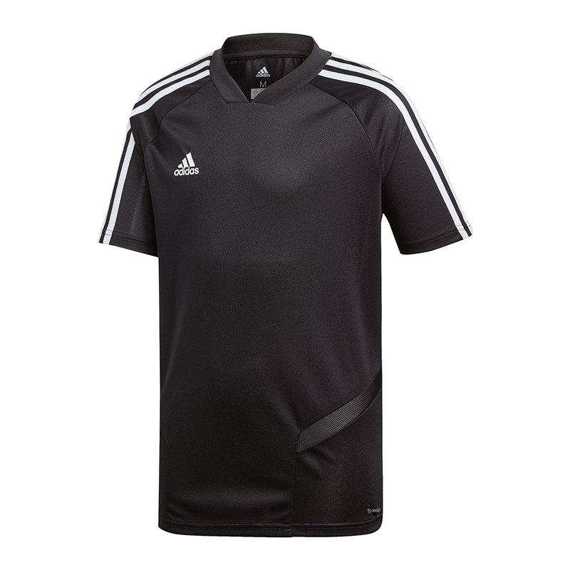 adidas Tiro 19 Trainingsshirt Kids Schwarz Weiss - schwarz