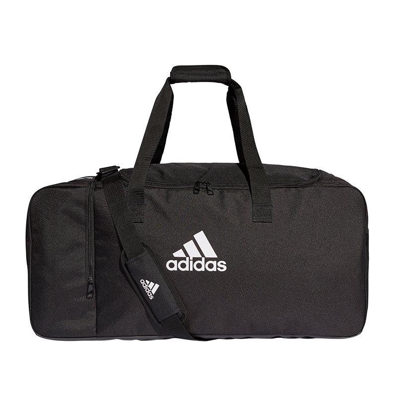 adidas Tiro Duffel Bag Gr. L Schwarz Weiss - schwarz