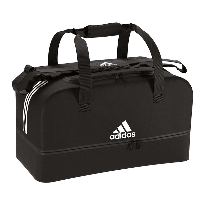 adidas Tiro Duffel Bag Tasche Gr. L Schwarz Weiss - Schwarz