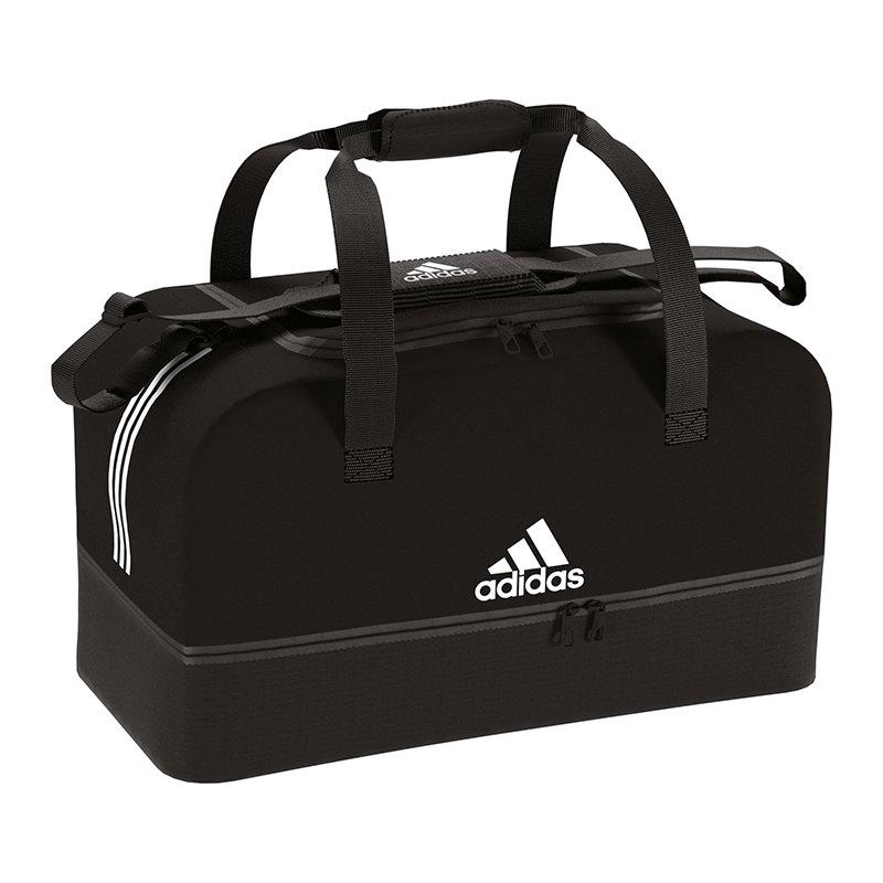 adidas Tiro Duffel Bag Tasche Gr. S Schwarz Weiss - schwarz