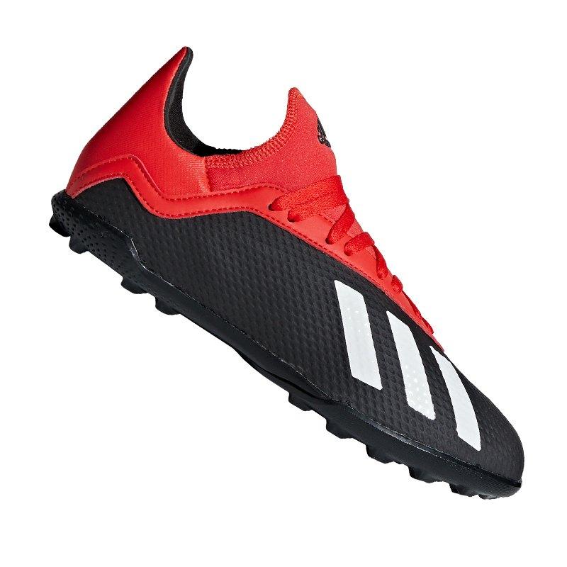 adidas X 18.3 TF J Kids Schwarz Rot - schwarz