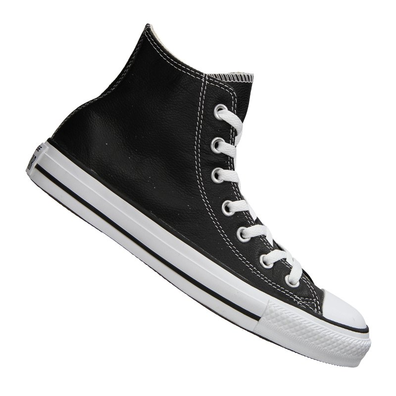 converse chuck taylor as high leather schwarz schwarz. Black Bedroom Furniture Sets. Home Design Ideas