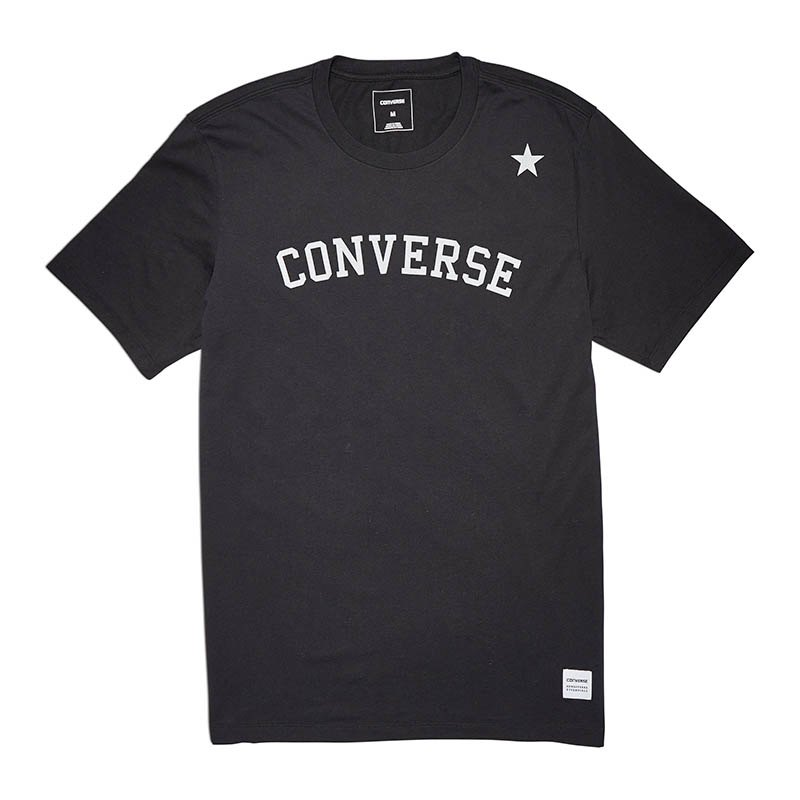 Converse Essentials Tonal Star Chiev T-Shirt F001 - schwarz