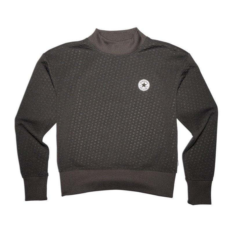 Converse Shield Lycra Sweatshirt Damen Schwarz - schwarz