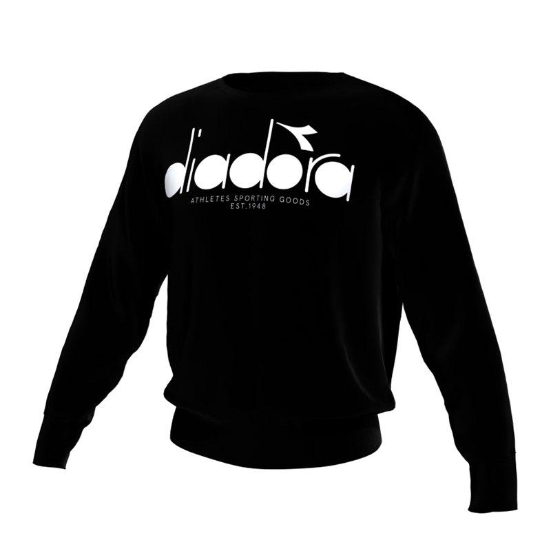 Diadora Sweatshirt Crew 5Palle Schwarz C7306 - schwarz