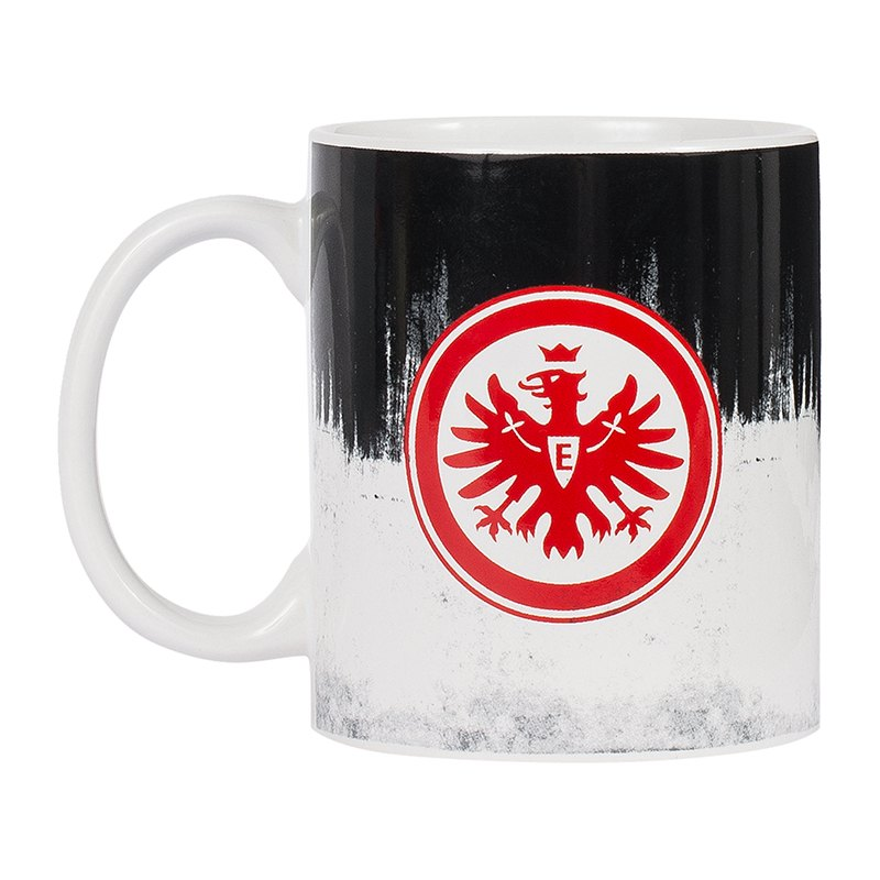 eintracht frankfurt tasse schwarz weiss kaffeebecher. Black Bedroom Furniture Sets. Home Design Ideas
