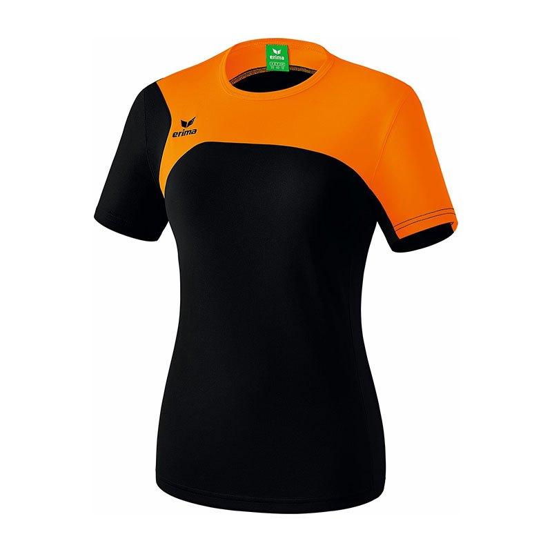 Erima Club 1900 2.0 T-Shirt Damen Schwarz Orange - schwarz