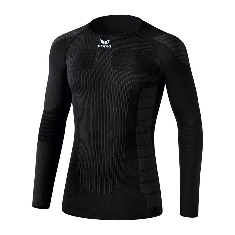 Erima Functional Longsleeve Shirt Schwarz - schwarz