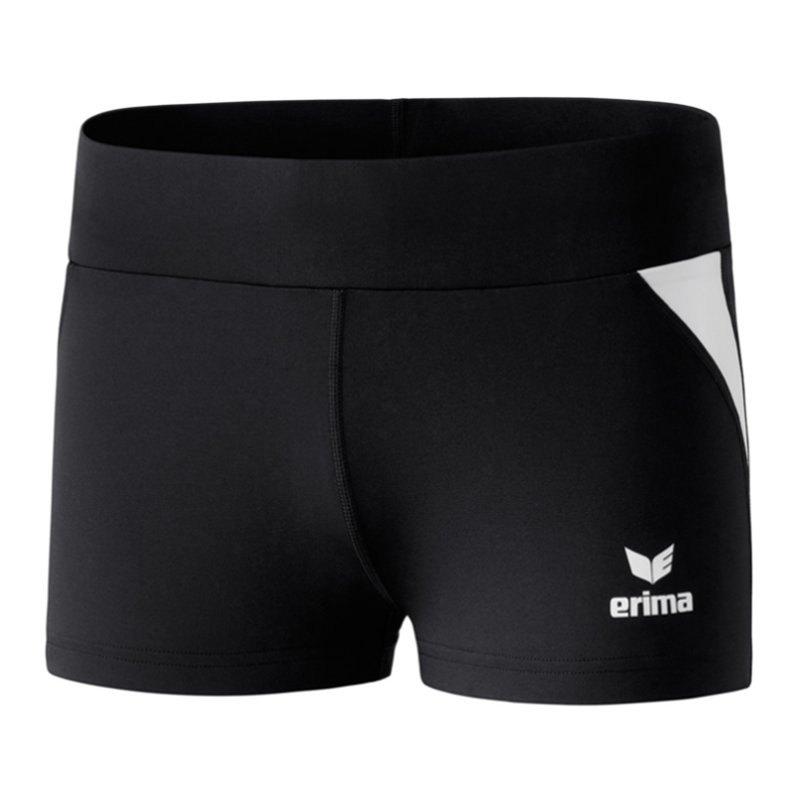 Erima Hot Pant Laufpanty Running Damen Schwarz - schwarz