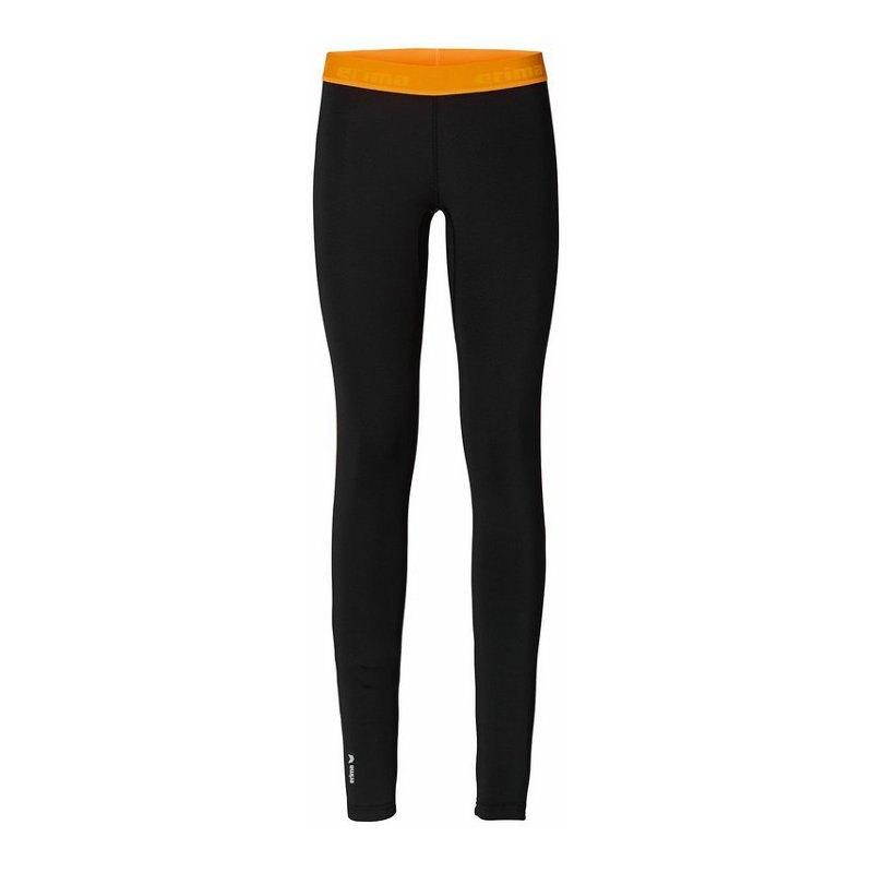Erima Running Tight Hose lang Damen Schwarz Orange - schwarz