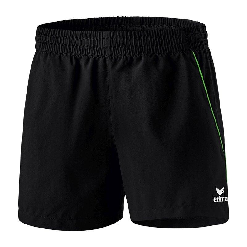 Erima Tischtennis Short Damen Schwarz Grün - schwarz
