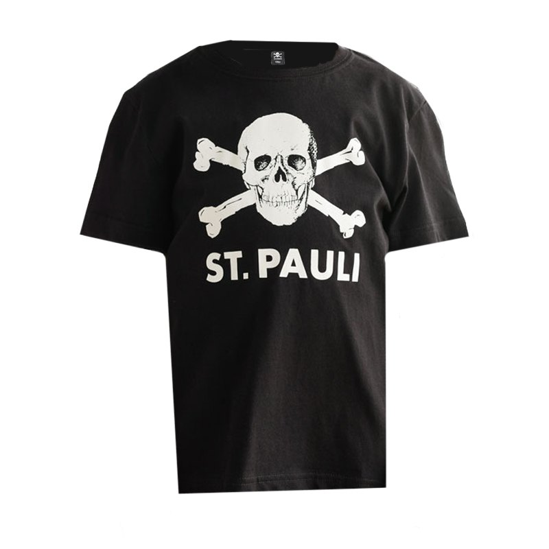 fc st pauli totenkopf t shirt kids schwarz fanshop. Black Bedroom Furniture Sets. Home Design Ideas