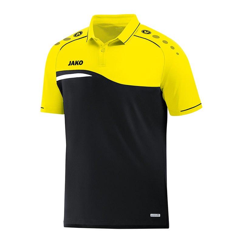 Jako Competition 2.0 Poloshirt Kids Schwarz F03 - schwarz