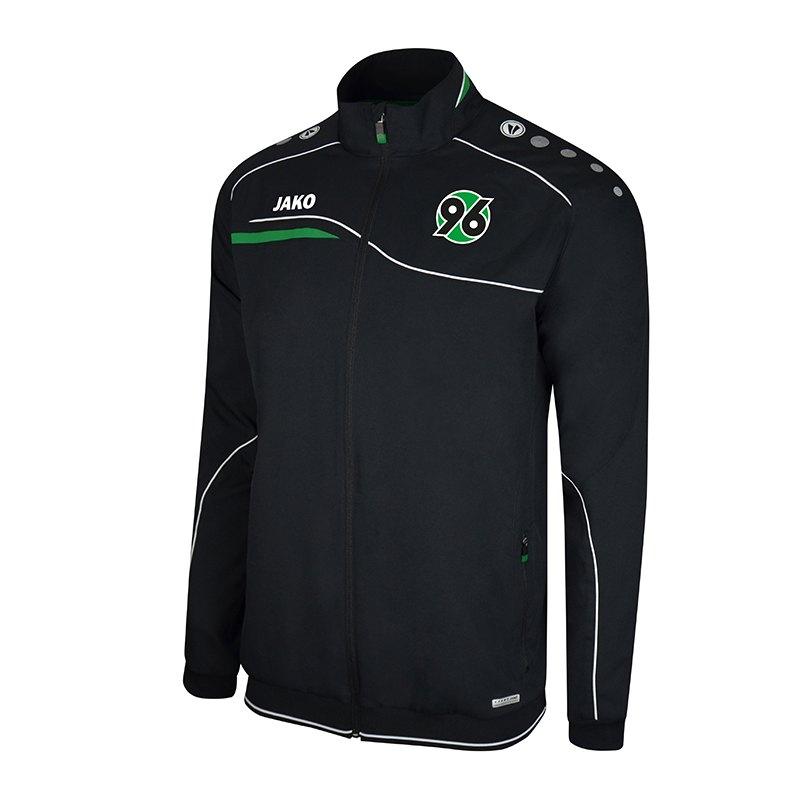 Jako Hannover 96 Einlaufjacke Kids Schwarz F08 - schwarz