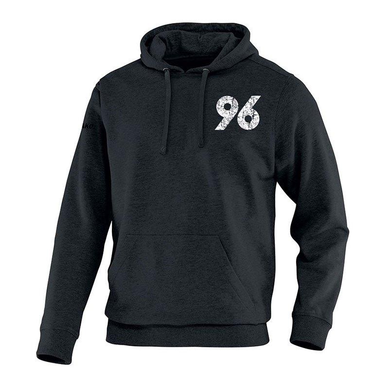 Jako Hannover 96 Vintage Hoody Kids Schwarz F08 - schwarz