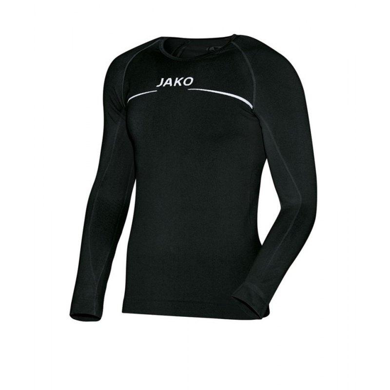 Jako Longsleeve Comfort Shirt Kids Schwarz F08 - schwarz