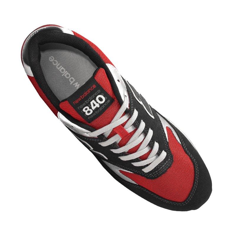 new balance 840 sneaker schwarz grau rot f3. Black Bedroom Furniture Sets. Home Design Ideas