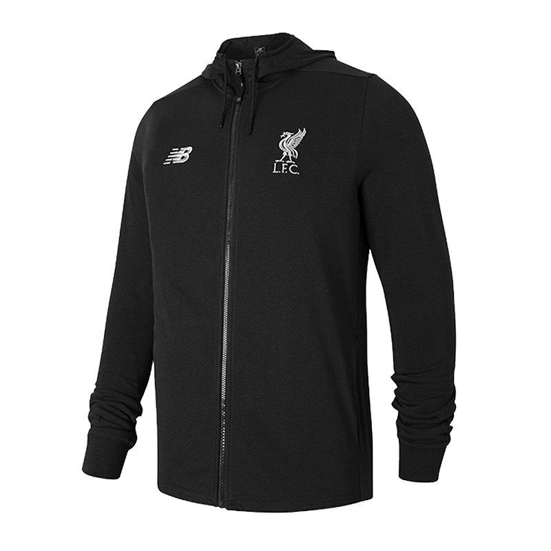 New Balance FC Liverpool Sweatshirt Schwarz F8 - schwarz