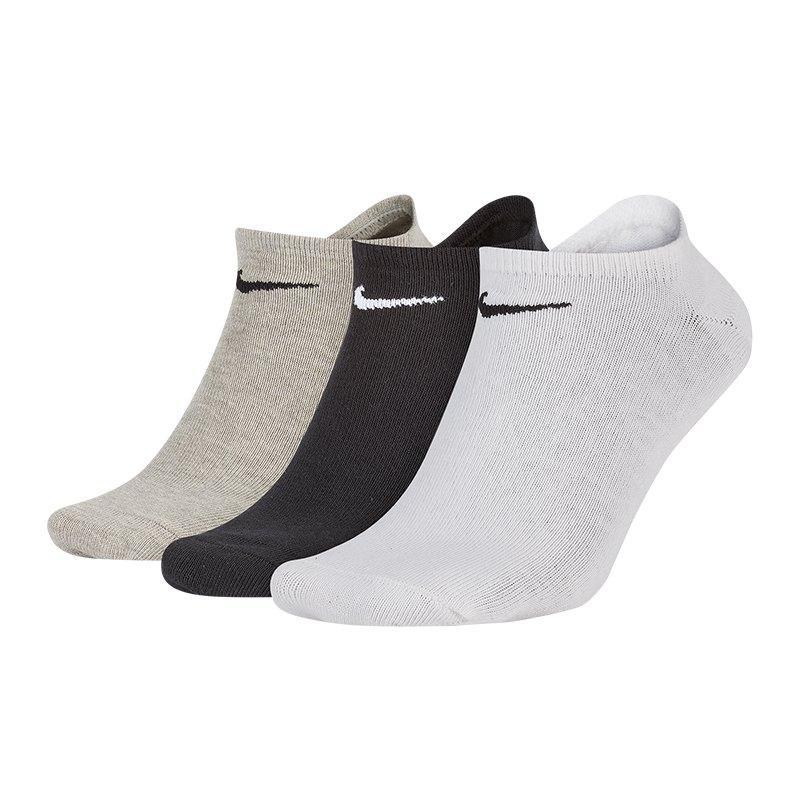 Nike 3er Pack Socken Füsslinge Sneaker F901 - schwarz