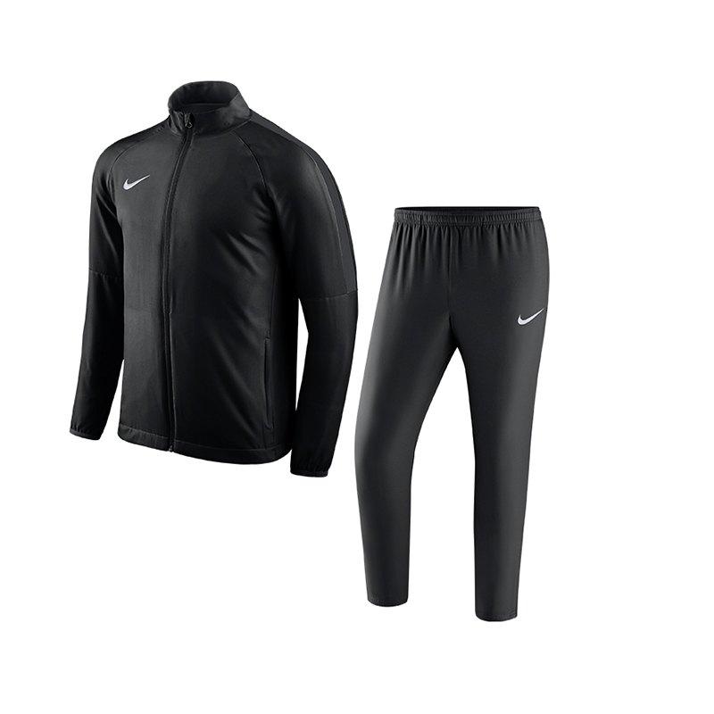 Nike Academy 18 Woven Trainingsanzug Schwarz F010 - schwarz