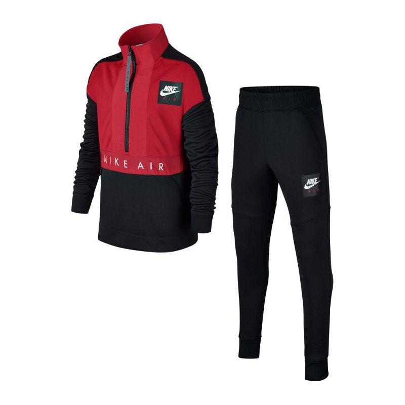 nike air track suit anzug kids schwarz rot f010. Black Bedroom Furniture Sets. Home Design Ideas