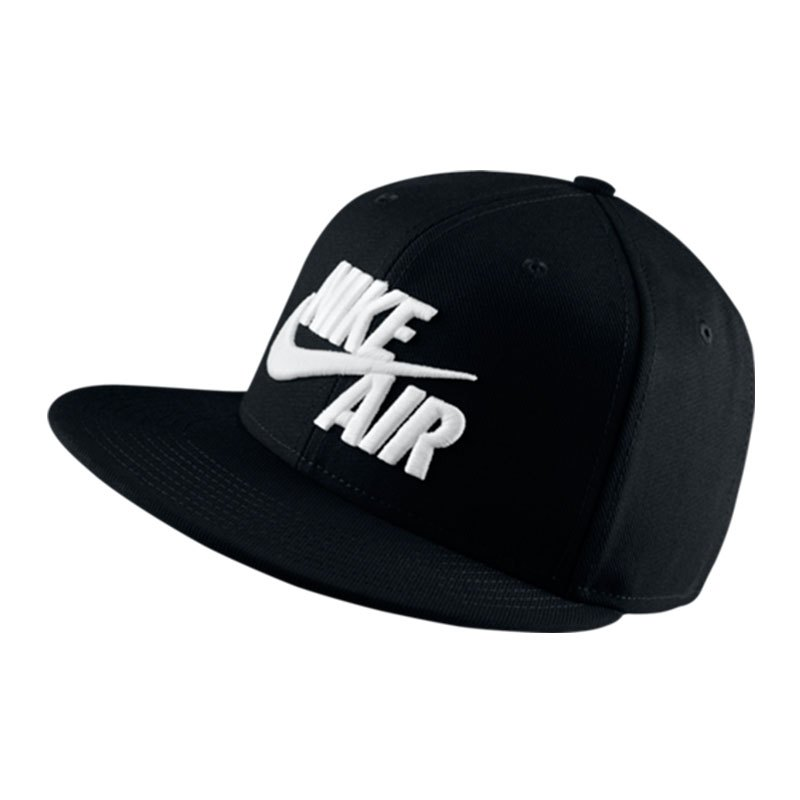 Nike Air True Snapback Cap Schwarz Weiss F010 - schwarz
