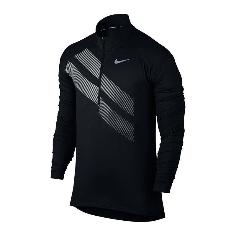 Nike Dry Element 1/2 Zip Top Running Schwarz F010 - schwarz