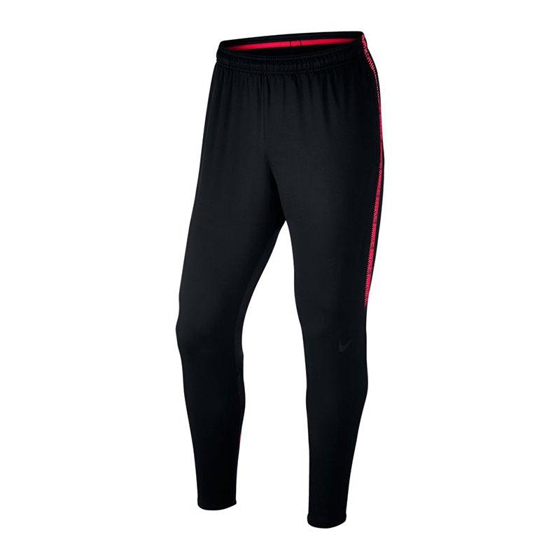 Nike Dry Squad Pant Hose lang Schwarz F020 - schwarz