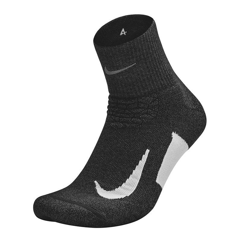 Nike Elite Cushion Quarter Socks Running F011 - schwarz