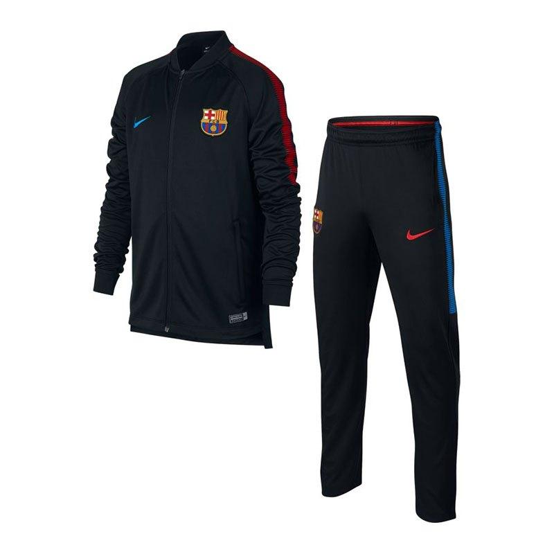 Nike FC Barcelona Squad Trainingsanzug Kids F011 - schwarz