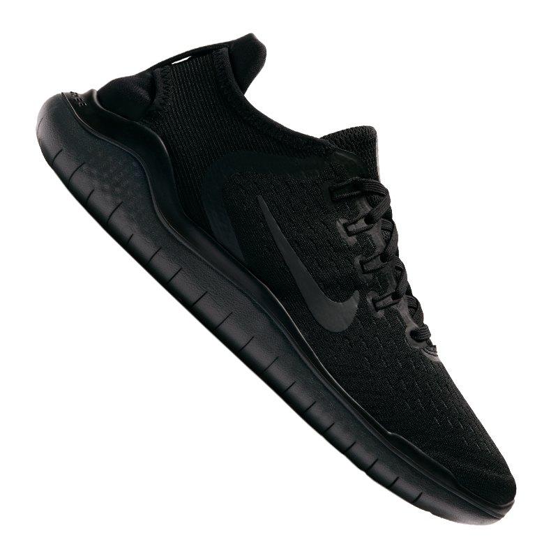 Nike Free RN 2018 Running Damen Schwarz F002 - schwarz
