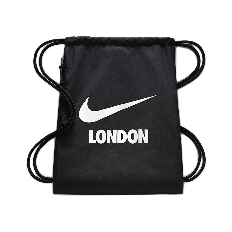 Nike Heritage London Gymsack Schwarz F033 - schwarz