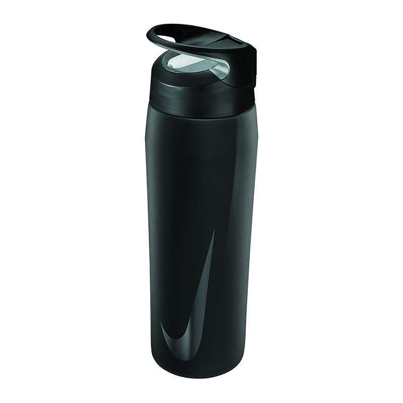 Nike Hypercharge Straw Bottle 24 OZ Schwarz F068 - schwarz