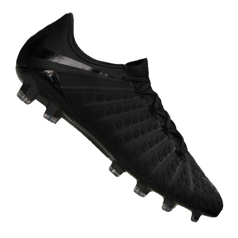 Nike Hypervenom Phantom III FG Schwarz F010 - schwarz