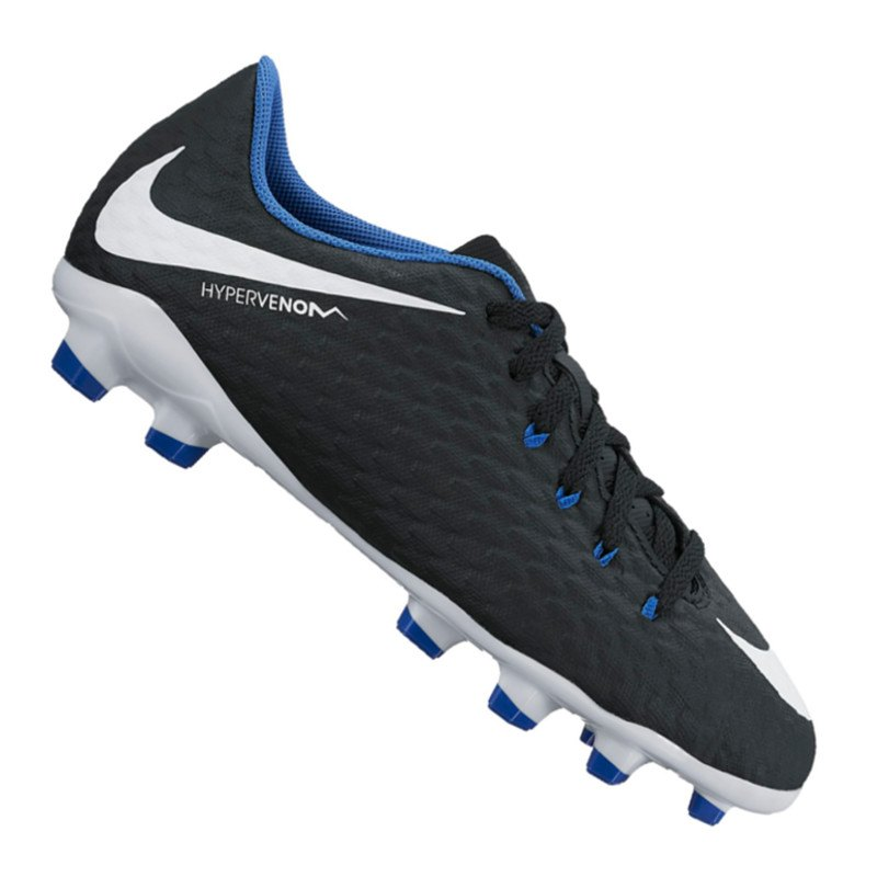 Nike Jr Hypervenom Phelon III FG Kids Schwarz F002 - schwarz