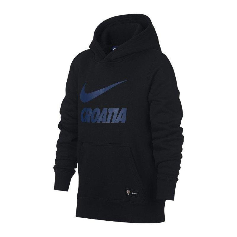 Nike Kroatien Kapuzensweatshirt Kids Schwarz F010 - schwarz