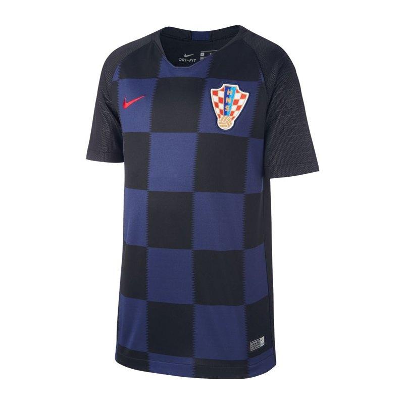 Nike Kroatien Trikot Away Kids WM 2018 F010 - schwarz