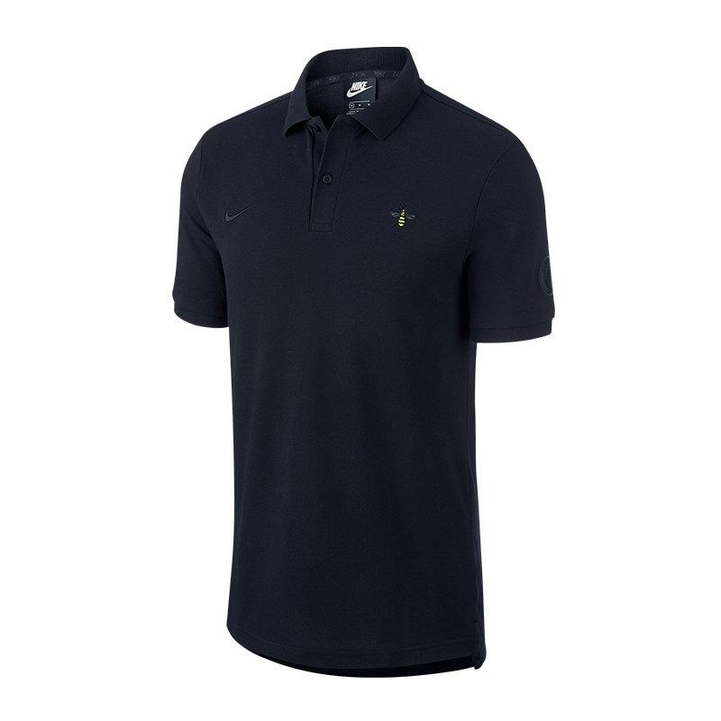 Nike Manchester City Poloshirt Schwarz F010 - schwarz