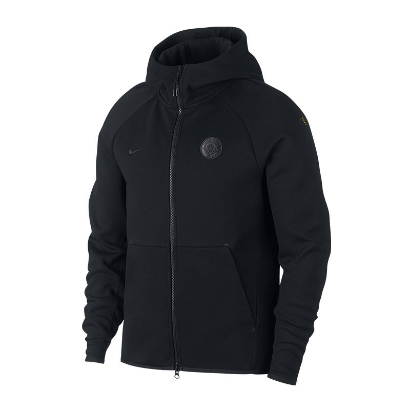 Nike Manchester City Tech Fleece Kapuzenjacke F010 - schwarz