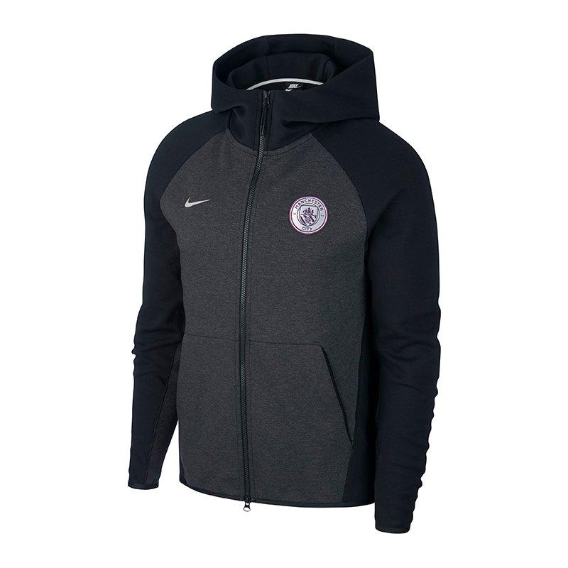 Nike Manchester City Tech Fleece Kapuzenjacke F014 - schwarz