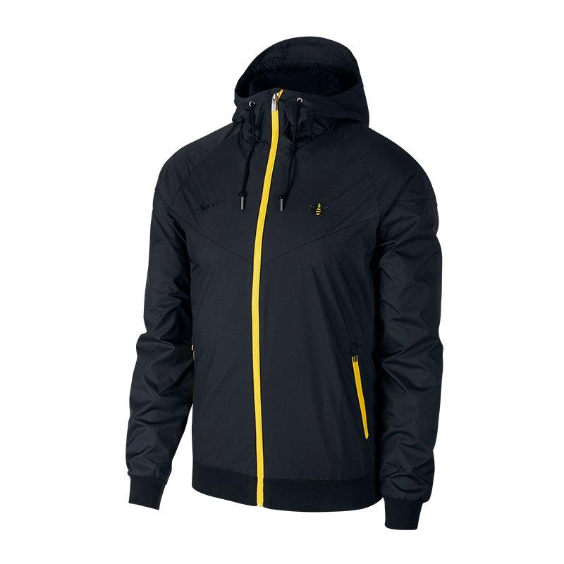 Nike Manchester City Windrunner Schwarz Gelb F010 - schwarz
