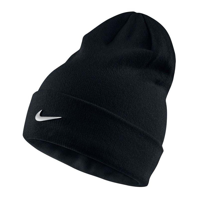 Nike Metal Swoosh Beanie Mütze Kids Schwarz F010 - schwarz