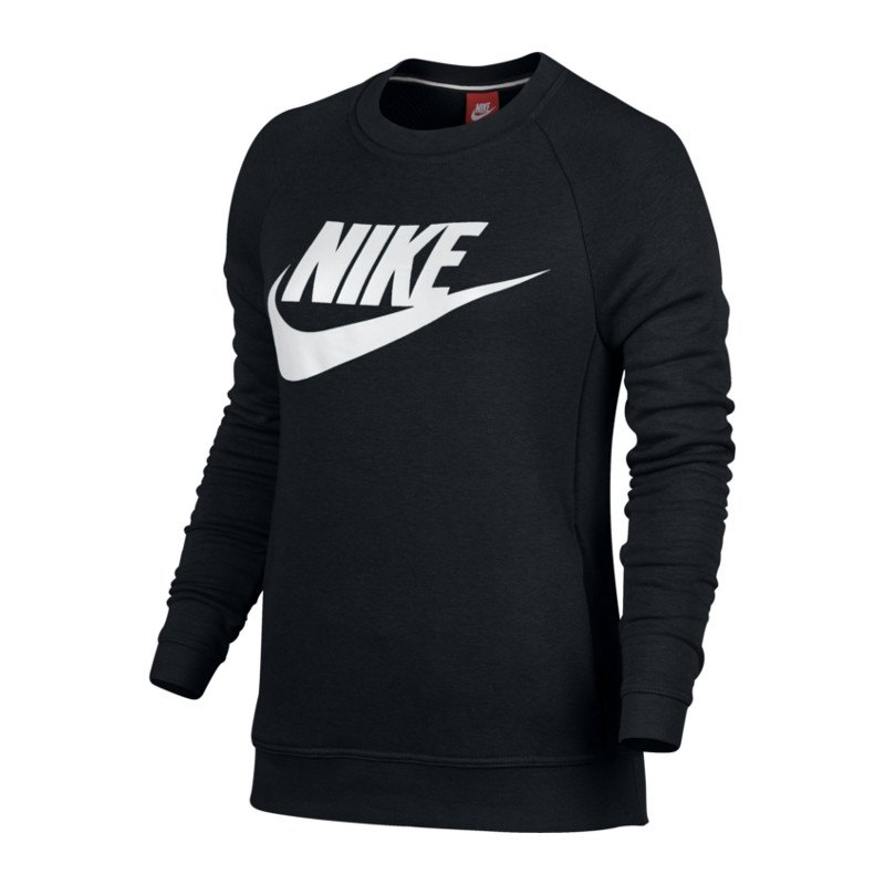 nike modern crew sweatshirt damen schwarz f010 lifestyleshirt longsleeve lifestylekleidung. Black Bedroom Furniture Sets. Home Design Ideas