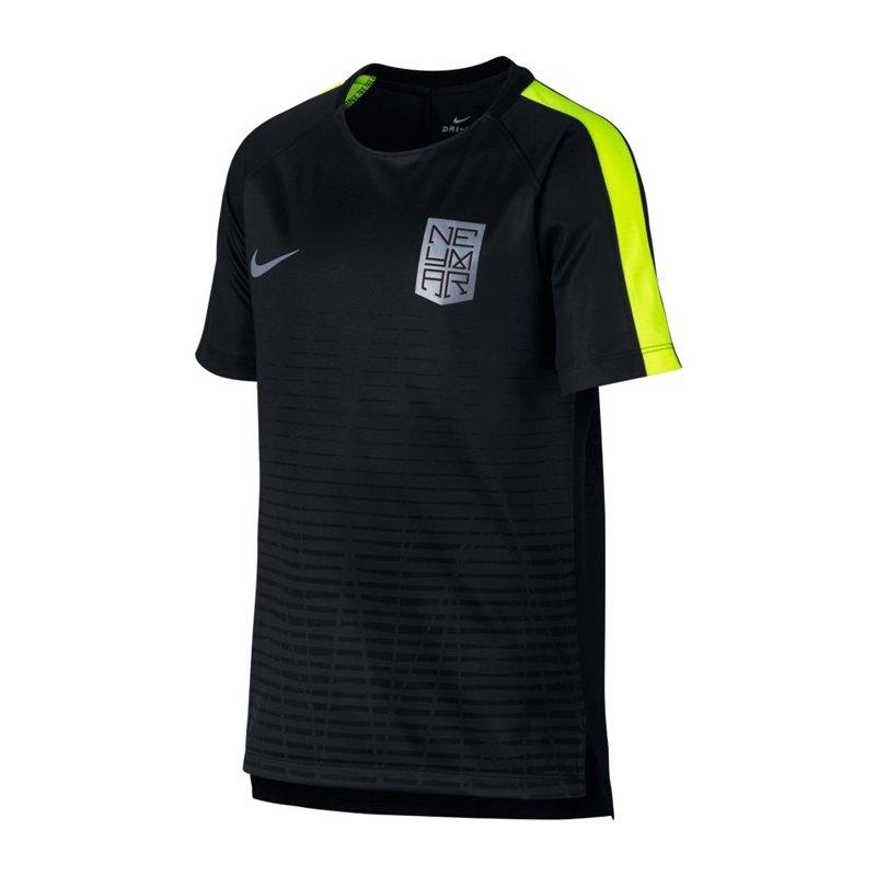 Nike Neymar Dry Squad T-Shirt Kids Schwarz F010 - schwarz