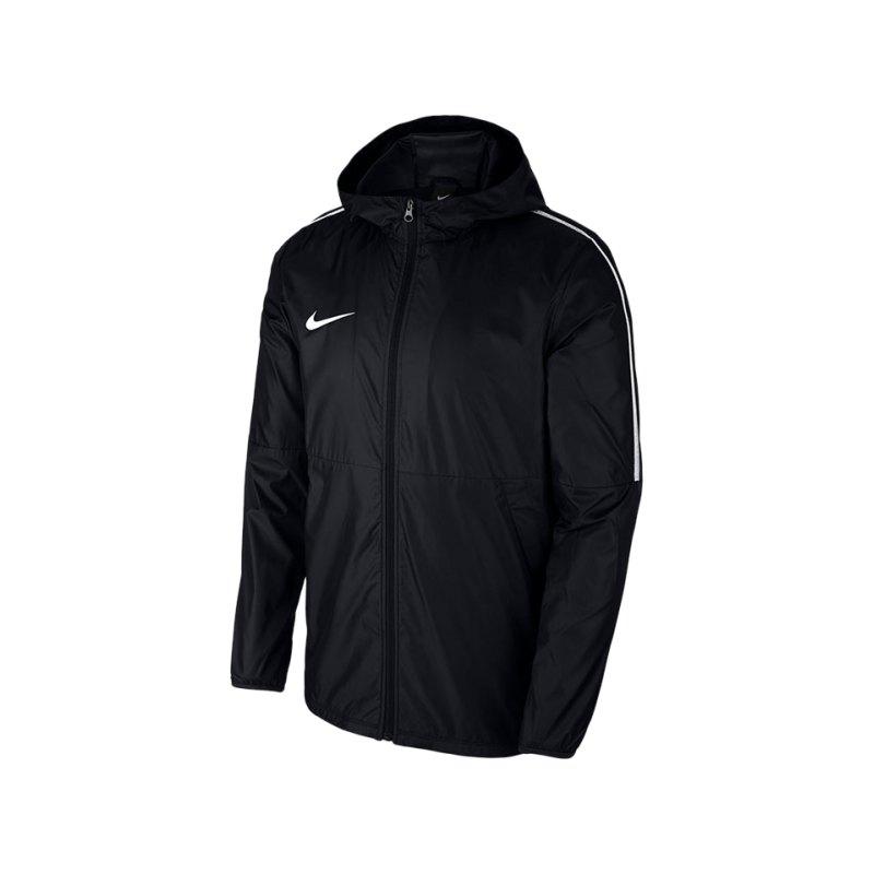 Nike Park 18 Rain Jacket Regenjacke Schwarz F010 - schwarz