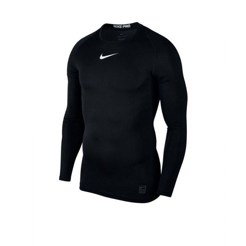 Nike Pro Compression LS Shirt Schwarz F010 - schwarz