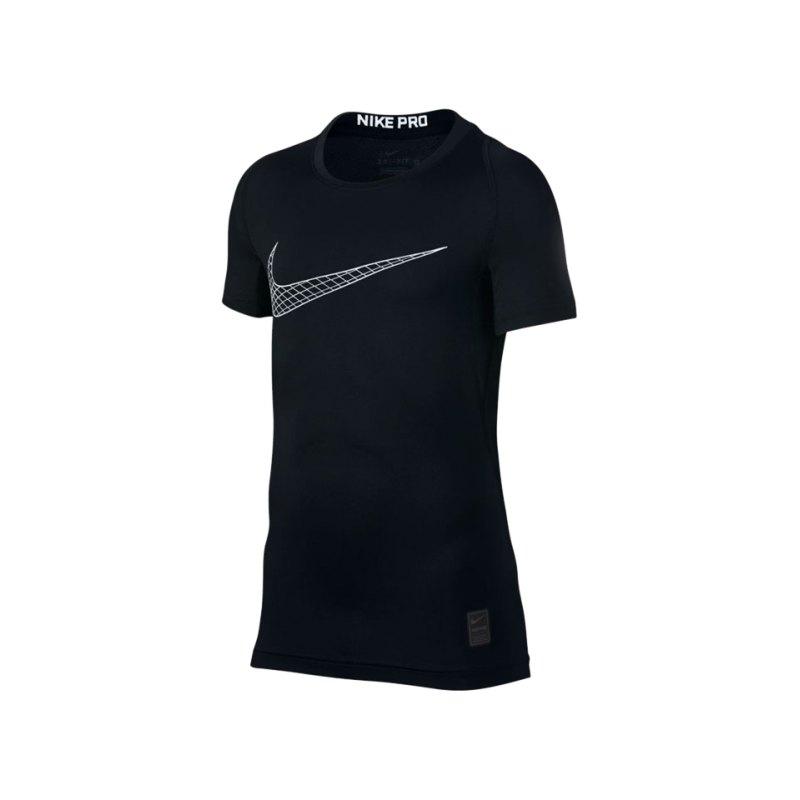 Nike Pro Compression T-Shirt Kids Schwarz F011 - schwarz